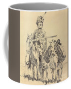 An Old Time Mountain Man With His Ponies Coffee Mug