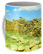 An Old Wall At The Pecos Ruins Coffee Mug