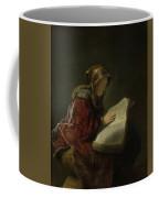 An Old Woman Reading - Prophetess Hannah Coffee Mug