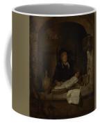 An Old Woman With A Book Coffee Mug