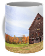 An Old Wooden Barn In Vermont. Coffee Mug