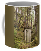 An Outhouse In A Moss Covered Forest Coffee Mug by Michael Melford