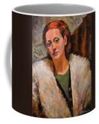 Ana In A Fur Coat Coffee Mug