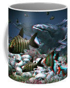 Anaglyph Whales Coffee Mug