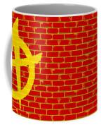 Anarchy Graffiti Red Brick Wall Coffee Mug