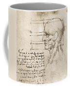 Anatomical Drawing By Leonardo Da Vinci Coffee Mug
