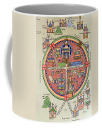 Ancient Map Of Jerusalem And Palestine Coffee Mug by French School