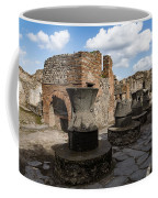 Ancient Pompeii - Bakery Of Modestus Millstones And Bread Oven Coffee Mug