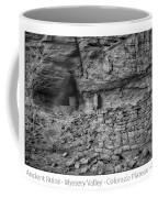 Ancient Ruins Mystery Valley Colorado Plateau Arizona 02 Bw Text Coffee Mug