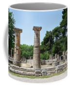 Ancient Ruins Wide Columns Coffee Mug