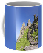 Ancient Steps Leading To Celtic Monastery, Skellig Michael, County Kerry, Ireland Coffee Mug