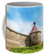 Ancient Wall And Tower Of The Fortress Oreshek Coffee Mug