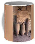 Ancient Wine Clay Vases  In A Wine Coffee Mug by Richard Nowitz