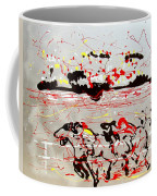 And Down The Stretch They Come Coffee Mug