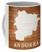 Andorra Rustic Map On Wood Coffee Mug