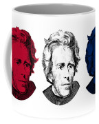 Andrew Jackson Red White And Blue Coffee Mug