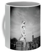 Angel And Church In Calvary Cemetery New York City Coffee Mug