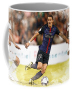 Angel Di Maria Controls The Ball Coffee Mug