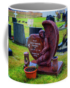 Angel Guarding Grave Hvalsneskirkja Graveyard Iceland Coffee Mug