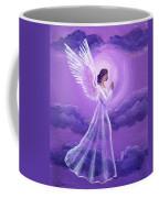 Angel In Amethyst Moonlight Coffee Mug