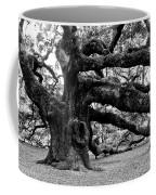 Angel Oak Tree 2009 Black And White Coffee Mug by Louis Dallara