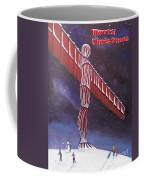 Angel Of The North Christmas Coffee Mug