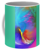 Angel On Lilly Pond Coffee Mug