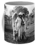 Angel On The Ground At Calvary Cemetery In Nyc New York Coffee Mug