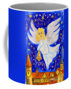Angel With Christmas Bell Coffee Mug