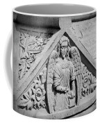 Angel With Scroll Carving Coffee Mug
