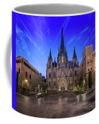 Angels Flying In Front Of The Cathedral Of The Holy Cross And Sa Coffee Mug