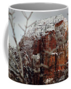 Angels Landing Under Snow Coffee Mug
