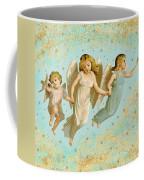 Angels Three Children Vintage Coffee Mug
