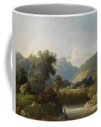 Angler By A Stream Coffee Mug
