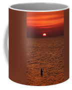 Angler In Summer Sunset Coffee Mug