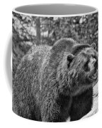 Angry Bear Black And White Coffee Mug