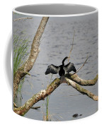 Anhinga And Alligator Coffee Mug