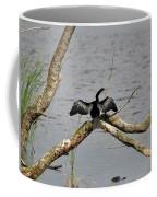 Anhinga And Alligator Coffee Mug