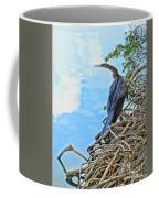 Anhinga In The Clouds Coffee Mug