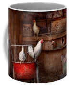 Animal - Chicken - The Duck Is A Spy  Coffee Mug by Mike Savad