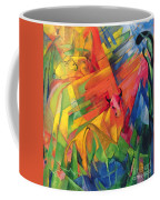 Animals In A Landscape Coffee Mug by Franz Marc