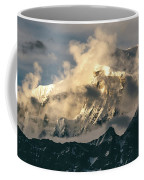 Annapurna Mountain Range In Evening Sunlight Coffee Mug