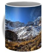 Annapurna Trail With Snow Mountain Background In Nepal Coffee Mug