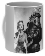 Anne Francis Movie Photo Forbidden Planet With Robby The Robot Coffee Mug