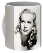 Anne Francis, Vintage Actress By John Springfield Coffee Mug