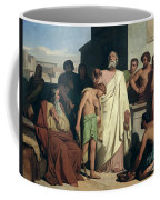 Annointing Of David By Saul Coffee Mug by Felix-Joseph Barrias