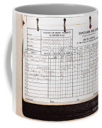 Ansel Adams Photography Exposure Record Log Coffee Mug