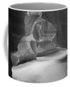 Antelope Slot Canyon Black And White Coffee Mug