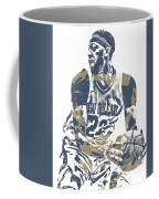 Anthony Davis New Orleans Pelicans Pixel Art 21 Coffee Mug
