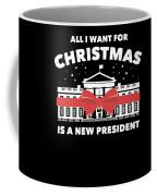 Anti Donald Trump Christmas Edition Vote For Dems Dark Coffee Mug